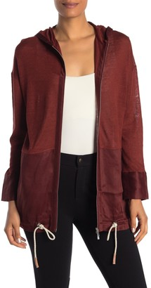Lafayette 148 New York Relaxed Hooded Sweater Jacket