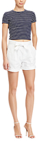 Polo Ralph Lauren Bow-Front Shorts, Pure White