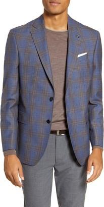 Ted Baker Jay Trim Fit Plaid Wool Sport Coat