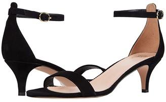 J.Crew Basic Kitten Heel Sandal (Rich Mahogany Haircalf) Women's Sandals