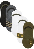 Steve Madden Military Footie Socks - Pack of 5