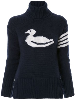 Thom Browne Duck Intarsia Cashmere Pullover