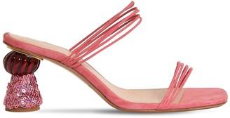 Jacquemus 55mm Les Vallena Suede Sandals