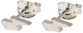 Harry Rocks Silver Mini Lightening Bolt Stud Earrings