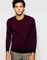 Ted Baker 100% Merino Wool Colour Block Jumper - Red