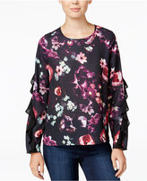 Bar III Ruffled Floral-Print Top, Only at Macy's