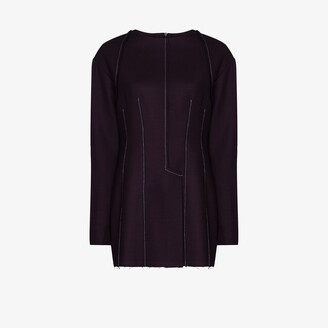 Richard Malone Exposed Seam Wool Shirt