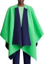 Ralph Lauren Kellin Two-Tone Wool Poncho