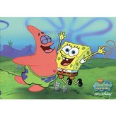 Old Glory Spongebob - Spongebob With Patrick Postcard