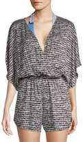 Trina Turk Printed Kimono-Sleeve Coverup