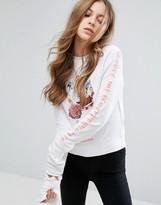 Cheap Monday Flower Skull Sweatshirt