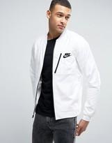 Nike Av15 Jersey Bomber Jacket In White 846878-100
