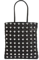 Alexander Wang Studded Lambskin Leather Cage Tote - Black