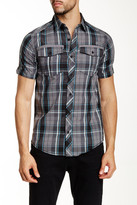 Burnside Short Sleeve Woven Plaid Regular Fit Shirt