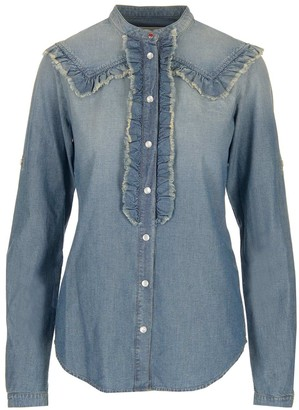 Golden Goose Ruffle Denim Shirt