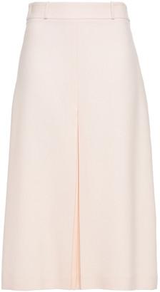 Loro Piana Avigale Pleated Silk And Wool-blend Midi Skirt