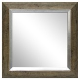 Threshold Square Mirror Washed Wood Finish with Metal Foil Trim 23