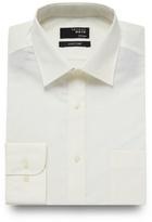 Thomas Nash Big And Tall Cream Plain Regular Fit Shirt