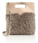 Agnona Shearling & Leather Shoulder Bag