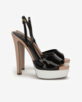 Sergio Rossi Olivyah Colorblock Patent Leather Sandal