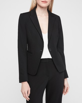 Express Soft Knit Peak Lapel Blazer