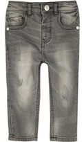 River Island Mini boys grey washed skinny jeans