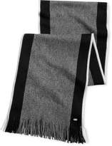 HUGO BOSS Men's Fadon Side-Stripe Scarf