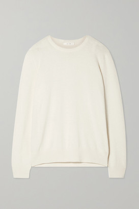 The Row Olive Cashmere Sweater - Ivory