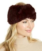 Marcus Adler Rabbit Fur Criss Cross Stretch Headband Hat Leopard Printed $95 O//S