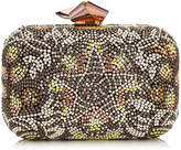 Jimmy Choo CLOUD Suede Clutch Bag with Black and Gold Mosaic Embroidery