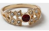 Dorothy Perkins Womens Red Stone And Crystal Ring- Red