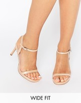 Wide Fitting Nude Heels - ShopStyle UK