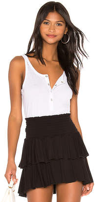 Chaser Snap Front Hi Lo Henley Baby Tank