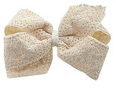 Copper Key Crochet Over Grosgrain Hair Bow