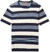 Missoni Striped Cotton T-shirt - Blue