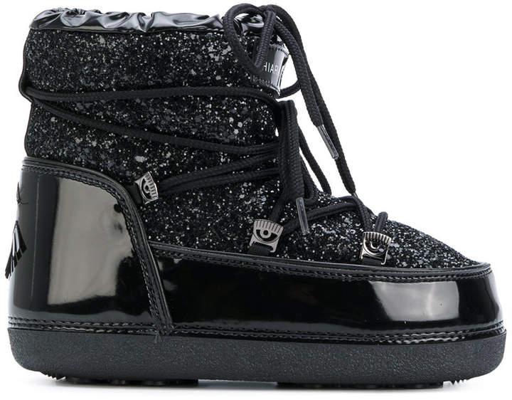 Chiara Ferragni glitter moon boot