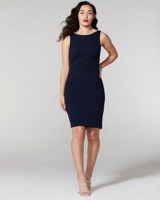 Vince Camuto Tie-back Sheath