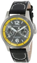 Invicta Women's 14143 I-Force Charcoal Dial Black Leather Watch