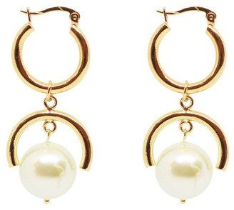Bling Bar Elle Pearl Earrings Gold
