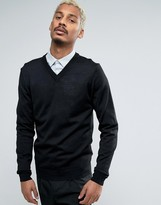 Casual Friday V-neck Jumper In Wool Mix