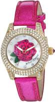 Betsey Johnson Women's Quartz Stainless Steel and Leather Casual Watch, Color:Pink (Model: BJ00193-10)
