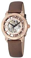 Stuhrling Original Women's Winchester Women's automatic Watch with Rose Gold Dial Analogue Display and Brown Leather Strap 156.124T14