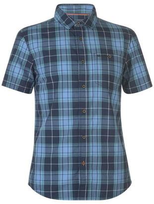 Soul Cal SoulCal Check Short Sleeve Shirt Mens