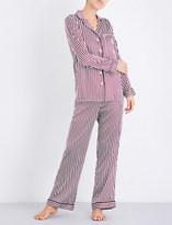 Yolke Damson Stripe silk pyjama set