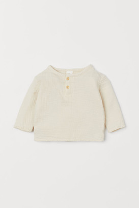 H&M Cotton Top - Beige