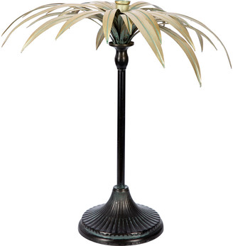 A By Amara A by Amara - Palm Tree Candle Holder - Gold