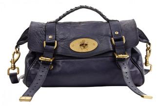 Mulberry Alexa Navy Leather Handbags
