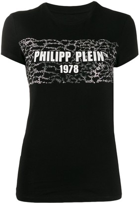 Philipp Plein logo print slim-fit T-shirt