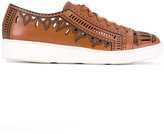 Santoni cutout trainers - women - Leather/rubber - 36