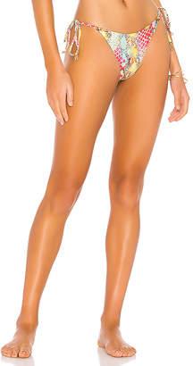 Luli Fama Wavy Ruched Back Bikini Bottom